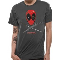 Deadpool - Crossbones Men's Medium T-Shirt - Grey