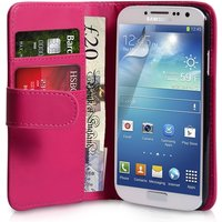 YouSave Accessories Samsung Galaxy S4 Leather-Effect Wallet Case (Trade) - Hot Pink