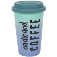 Cardio and Coffee Travel Mug