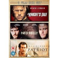 The Patriot / A Knights Tale / Ned Kelly DVD