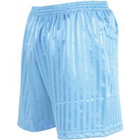 Precision Striped Continental Football Shorts 22-24 inch Sky Blue