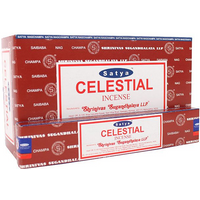 Box of 12 Packs of Celestial Incense Sticks by Satya