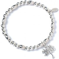 Tree of Life Charm with Sterling Silver Rice Bead