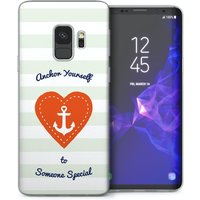 CASEFLEX SAMSUNG GALAXY S9 ANCHOR LOVE HEART CASE / COVER (3D)