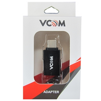 VCOM USD 3.0 A (F) to USB 3.1 C (M) Black Retail Packaged Converter Adapter