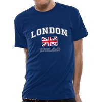 Cid Originals - London England Men's Medium T-Shirt - Blue
