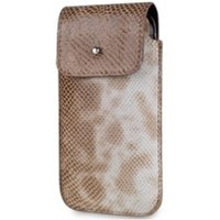 SOX Serpente Genuine Leather Premium Mobile Phone Bag for iPhone/Samsung and more, Large, Sand (SOX KSEB 02 L)