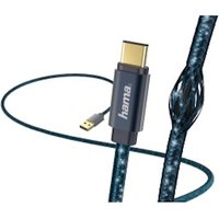 Hama Glitter Charging/Data Cable, USB Type-C, 1.5 m, blue