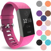 YouSave Activity Tracker Silicone Strap - Large (Hot Pink)