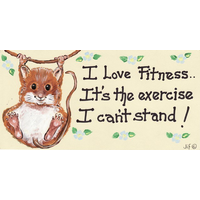 I Love Fitness, it's the Excersise Pack Of 12