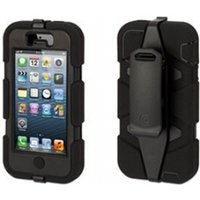 Griffin GB39732-2 Survivor Case & Belt Clip for iPhone5 Black/Black