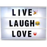 Ex-Display A4 Cinematic Lightbox with 170 Letters + Emojis & Free USB cable Green House Used - Like New