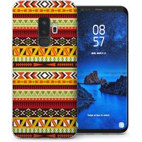 CASEFLEX SAMSUNG GALAXY S9 PLUS AZTEC EARTHY PATTERN CASE / COVER (3D)