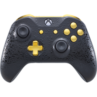 3D Black & Gold Xbox One S Controller