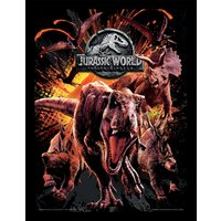 Jurassic World Fallen Kingdom - Montage Framed 30 x 40cm Print