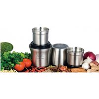 Revell CCM102 Wet 'N Dry Grinder with Two Separate Bowls Stainless Steel UK Plug