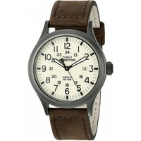 Timex T49963 Expedition Scout Watch with Brown Leather Strap