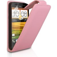 YouSave Accessories HTC One SV Leather-Effect Flip Case - Baby Pink