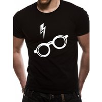 Harry Potter - Glasses Men's Large T-Shirt - Black