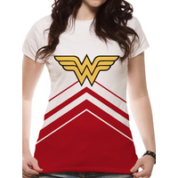 Wonder Woman - Cheers Leader Logo Women's Large T-Shirt - White