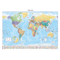 World Map 2017 Maxi Poster