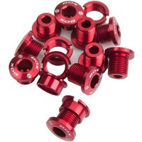 Box Spiral 7075 Alloy Chainring Bolts Red