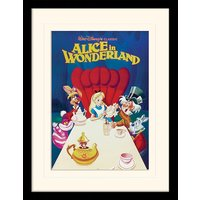 Alice In Wonderland - 1989 Mounted & Framed 30 x 40cm Print