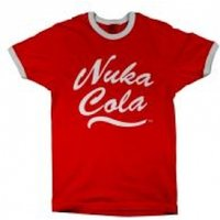 FALLOUT Men's Nuka Cola Logo T-Shirt, Medium, Red