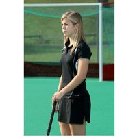 PT Ladies Polo Shirt Medium Black/White