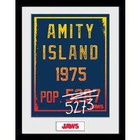 Jaws Amity Island Pop. 5273 Collector Print