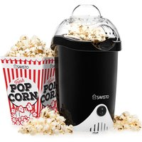 Savisto Vintage Style Popcorn Maker In Black UK Plug