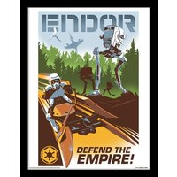 Star Wars - Endor Framed 30 x 40cm Print