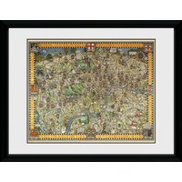 Transport For London Tapestry Map Framed Collector Print