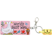 Pack of 6 Worlds Best Wife Key Rings