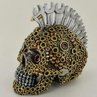 Nuts and Bolts and Spanners Mohawk Skull