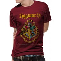 Harry Potter - Hogwarts Property Crest Men's Small T-Shirt - Red
