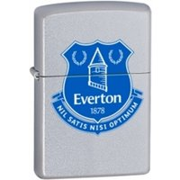 Zippo Everton FC (Official Printed Crest) Satin Chrome Windproof Lighter