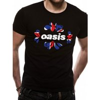 Oasis - Union Jack Unisex XX-Large T-Shirt - Black