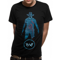 Westworld - Blue Man Men's X-Large T-Shirt - Black
