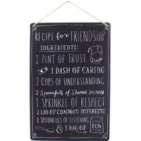 Recipe for Friendship Metal Sign