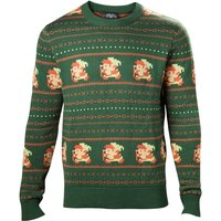Nintendo Legend of Zelda - Pixel Link Men's XX-Large Christmas Jumper - Green