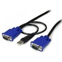 6 ft 2-in-1 Ultra Thin USB KVM Cable