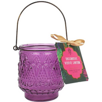 Purple Glass Candle Holder