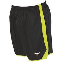 Precision Roma Shorts 38-40 Inch Adult Black/Fluo Yellow/Fluo Yellow