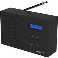Groov-e GVDR03BK Paris Portable DAB/FM Digital Radio Black UK Plug