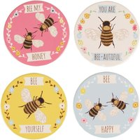 Sass & Belle Bees Coasters (Set of 4)