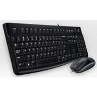 Logitech Wired Slim Keyboard Black + Optical Mouse - 920-002552