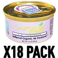 L.A Lavender (Pack Of 18) California Scents Spillproof Organic Canister