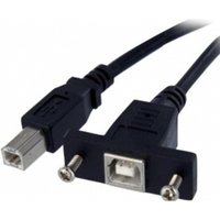 3 ft Panel Mount USB Cable B to B - F/M