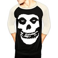 Misfits - Skull Men's X-Large Baseball Shirt - Black